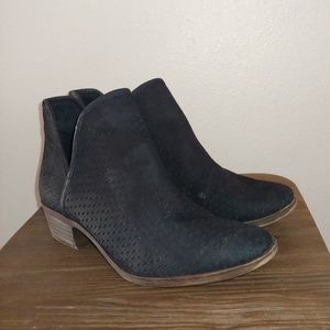 Lucky Brand Ankle Bootie Brooklin Perforated Suede